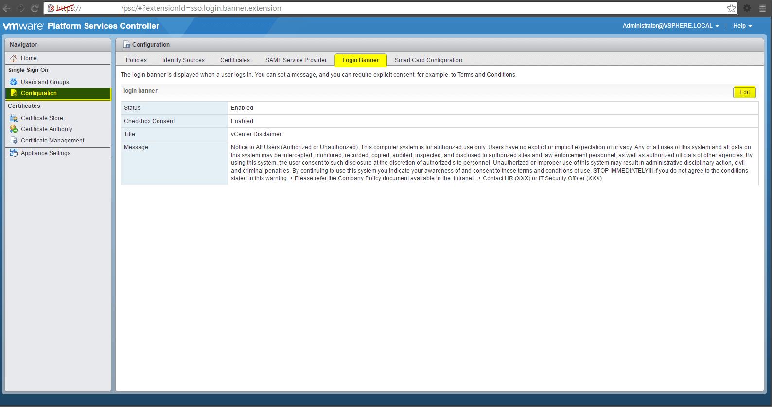 vsphere web client – Almost a ninja